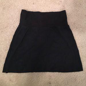 American Apparel Black Mini Skirt - Size Medium