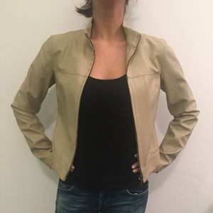 Cute fitted faux leather jacket