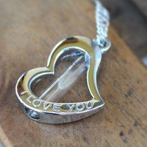 Jewelry - I LOVE YOU heart shaped dandelion wish necklace