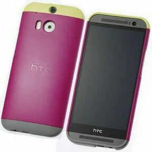 HTC Accessories - HTC // M8 Double Dip Case Yellow Gray Raspberry