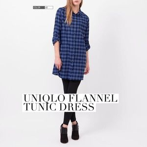 UNIQLO Dresses & Skirts - Uniqlo flannel check dress