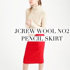 J. Crew Dresses & Skirts - Beautiful poppy colored wool pencil skirt SOLD
