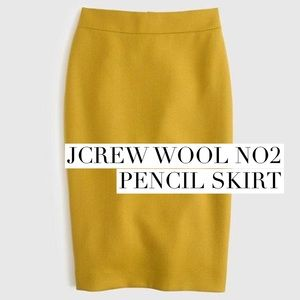 J. Crew Dresses & Skirts - Beautiful mustard wool pencil skirt
