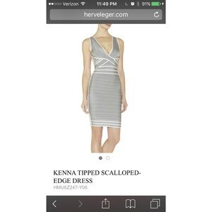 Authentic Herve Leger Kenna bandage dress