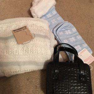 Scarf, Socks, Earrings and Jewelry case