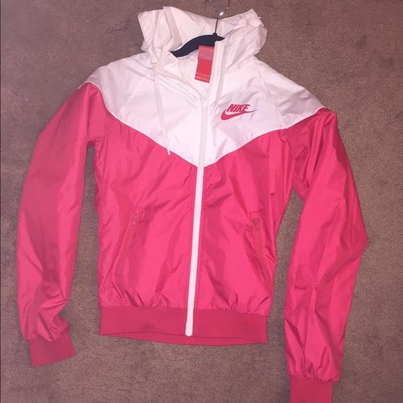 Nike Windrunner Des Femmes De Veste Rose