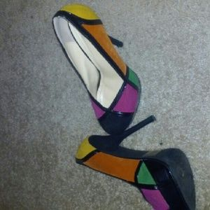 Multi colored shoes