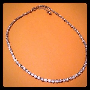 Sterling Silver All over Cz Necklace