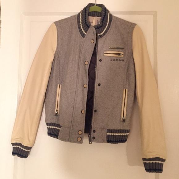 918c64c04 SALE! Superdry leather sleeve varsity jacket XS