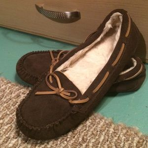 Shoes - Dark brown moccasins