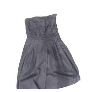 Black Zara taffeta dress.