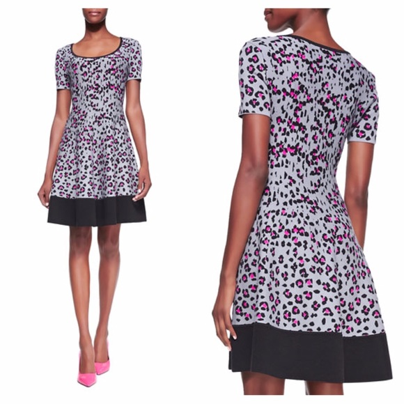 a433ad18353 NEW Kate Spade cyber cheetah sweater dress