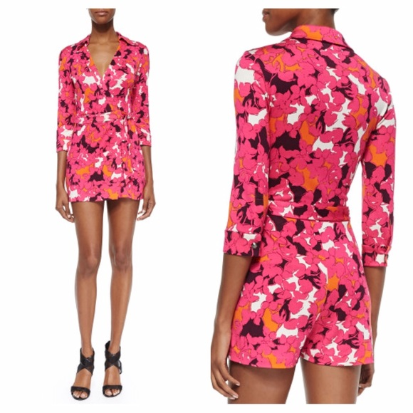 e798e54c3c42 NEW Diane Von Furstenberg wrap dress romper