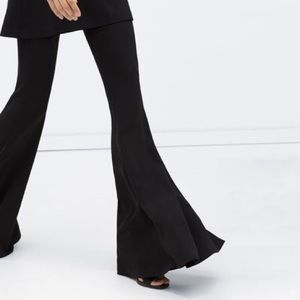 Zara Super Flare Black Trousers