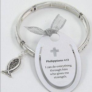 Antique Philippians 4:13 Bracelet