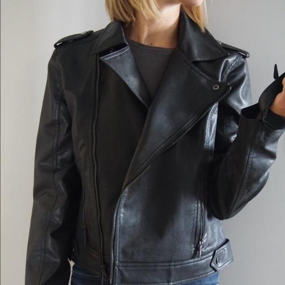 99fb62c40 Calvin Klein Faux Black Leather Jacket NWT