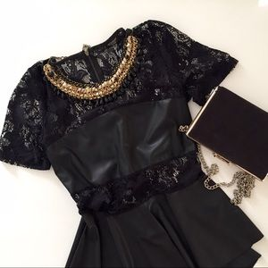 Necessary Clothing Tops - Lovely Lace Black Top