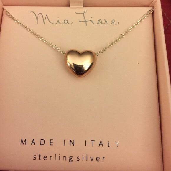 20 off Mia Fiore Jewelry Italy Rg Puffed Heart Ss Necklace Poshmark
