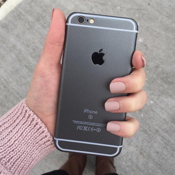 timeless design 31ea3 67ef2 matte black iPhone 6/6s phone case Boutique