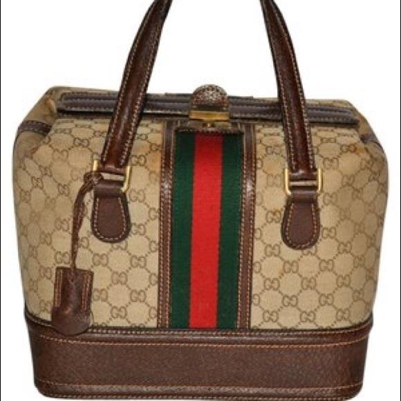 446ef624f5ca Gucci Bags | Auth Vintage Doctors Bag Brown 60s | Poshmark