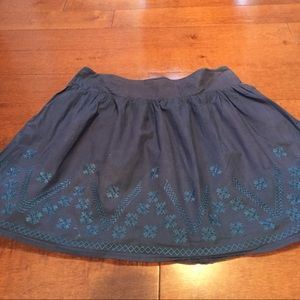 Fossil Dresses & Skirts - Fossil Blue Stitch Hem Skirt