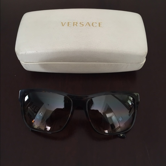 1002ee769036 Versace wayfarer dark brown tortoise sunglasses.  M 568eace5bcd4a70bdf003c7d. Other Accessories ...