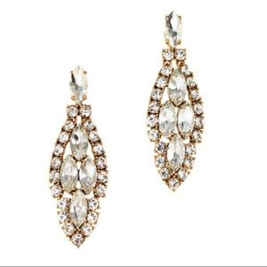 Crystal icicle earrings
