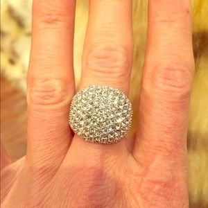 Pave looking looking crystal ring. Size8