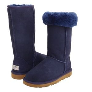 Brand new authentic navy tall UGG boots