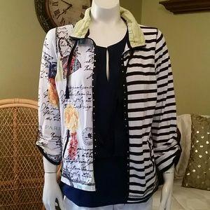 Jackets & Blazers - 5 4 30   Light cotton zippered jacket
