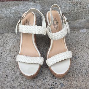 Shoes - White Charles Albert Wedge Shoes