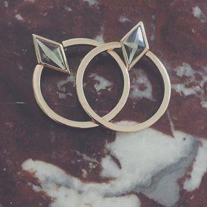 Jewelry - SOLD: Gold hoop earrings !