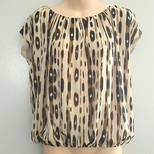  Vince Camuto Printed Blouse
