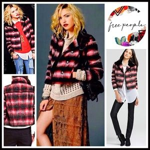 ❗1-HOUR SALE❗FREE PEOPLE Plaid Military Jacket