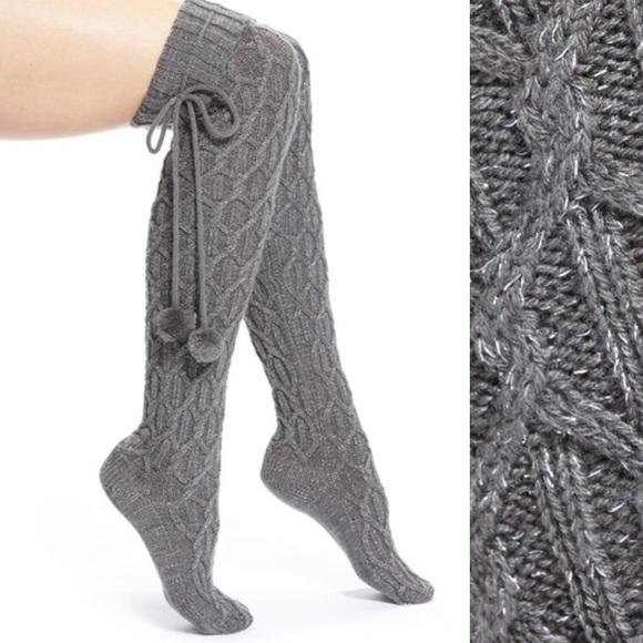 Knee Sparkle Cable Knit Socks | Poshmark