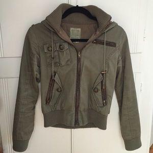 Olive green cargo jacket