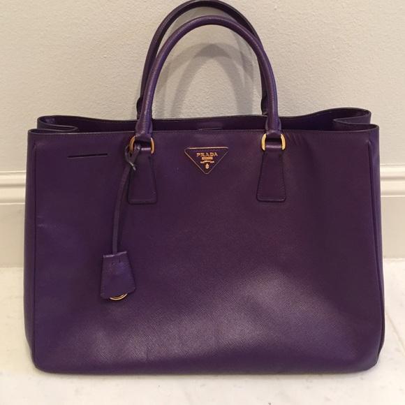 Purple Prada Handbag