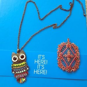 Owl necklace and vintage pendant!