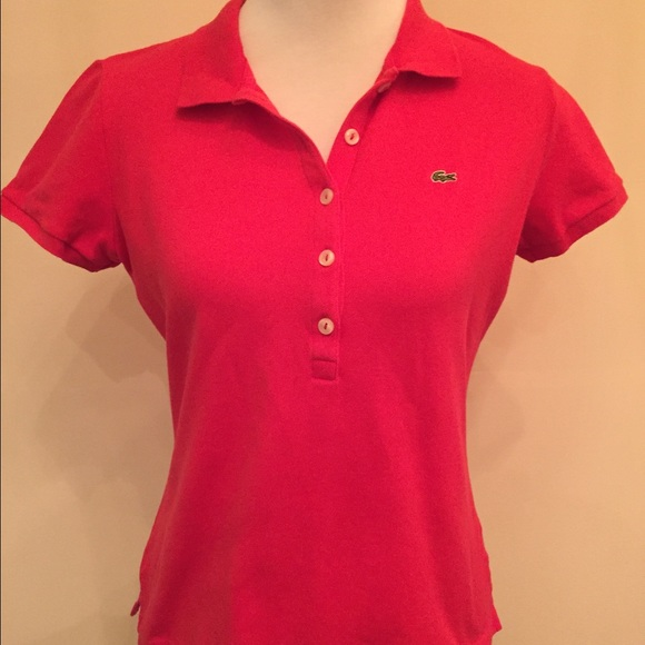78 off lacoste tops lacoste 4 buttons women polo shirt for Polo shirts without buttons