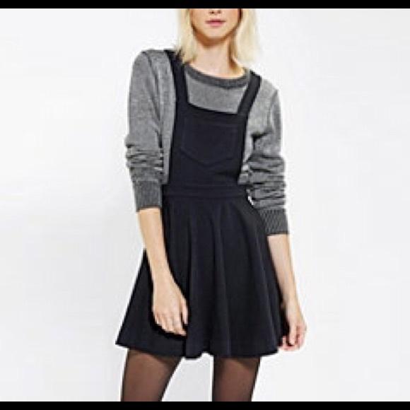 Black Bib Skirt NWOT