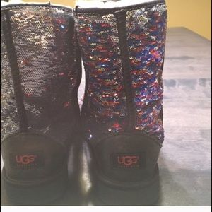 Ugg New Ugg Sequin Sparkle Heathered Lilac 8 From Lele S