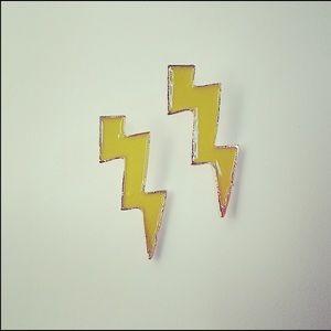 Jewelry - Yellow Light bolt stud earrings
