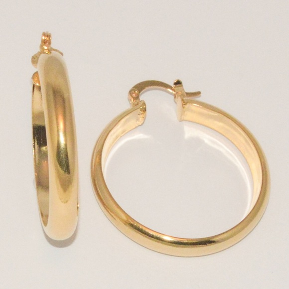 33 off Jewelry 18kt Brazilian Gold Filled Hoop Earrings from