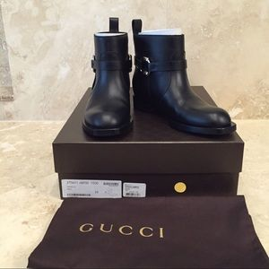 BNWT Gucci Buckle Motorcycle Boot