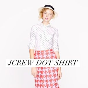 J. Crew Tops - Dot J Crew boy shirt