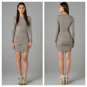 {alexander wang} ruched striped dress