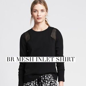 Banana Republic Tops - Super cool BR mesh inlet sweatshirt