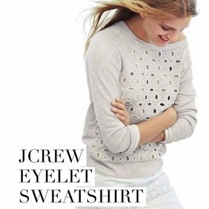 J. Crew Tops - Adorable eyelet Jcrew sweatshirt