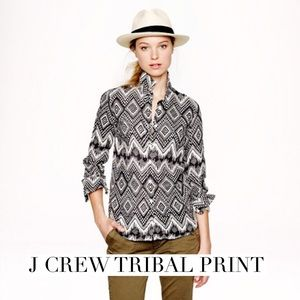 J. Crew Tops - Great tribal print button down Jcrew