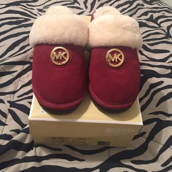 Michael Kors House Shoes Slippers Sz